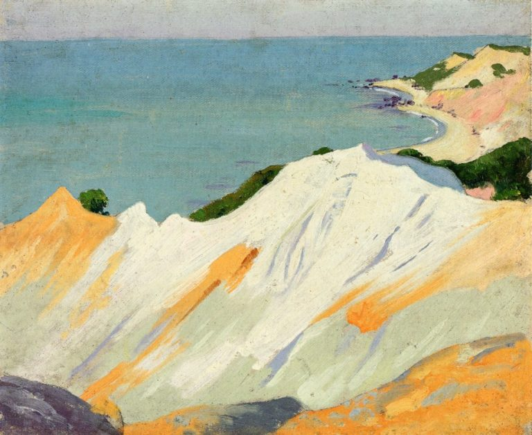 Chalk Hills Gay Head 1915 | Arthur Wesley Dow | oil painting