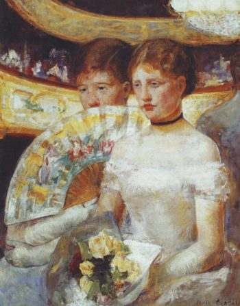 The loge | Mary Cassatt | oil painting