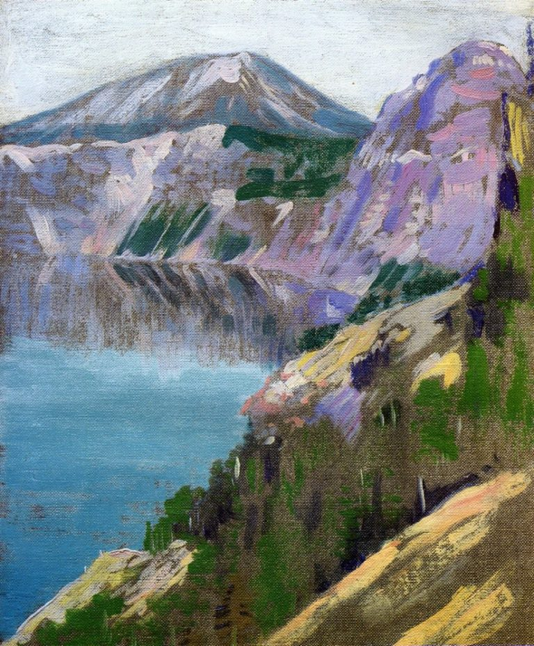 Crater Lake 1919 | Arthur Wesley Dow | oil painting