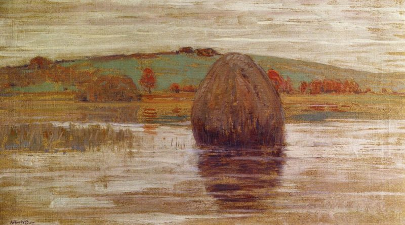 Flood Tide Ipswich Marshes Massachusetts 1900   Arthur Wesley Dow   oil painting