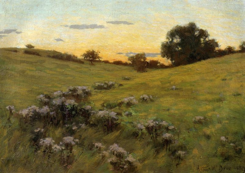 Flowering Field 1889 | Arthur Wesley Dow | oil painting