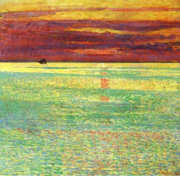Sunset at Sea | Frederick Childe Hassam | oil painting
