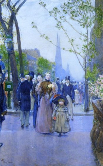 Sunday on Fifth Avenue (also known as Fifth Avenue, Church Parade) Frederick Childe Hassam