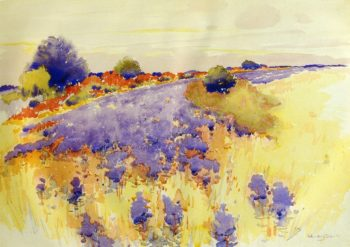 Flowering Field 1895 | Arthur Wesley Dow | oil painting