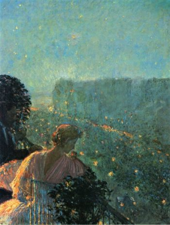 Summer Evening, Paris Frederick Childe Hassam