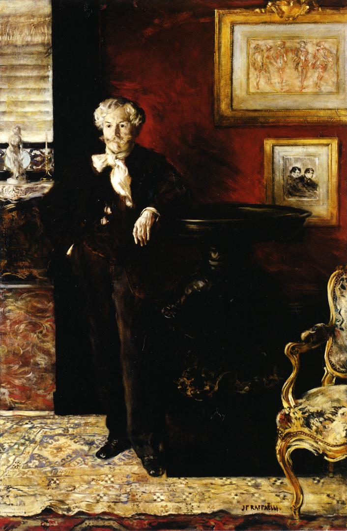Portrait of Edmond de Goncourt | Jean Francois Raffaelli | oil painting