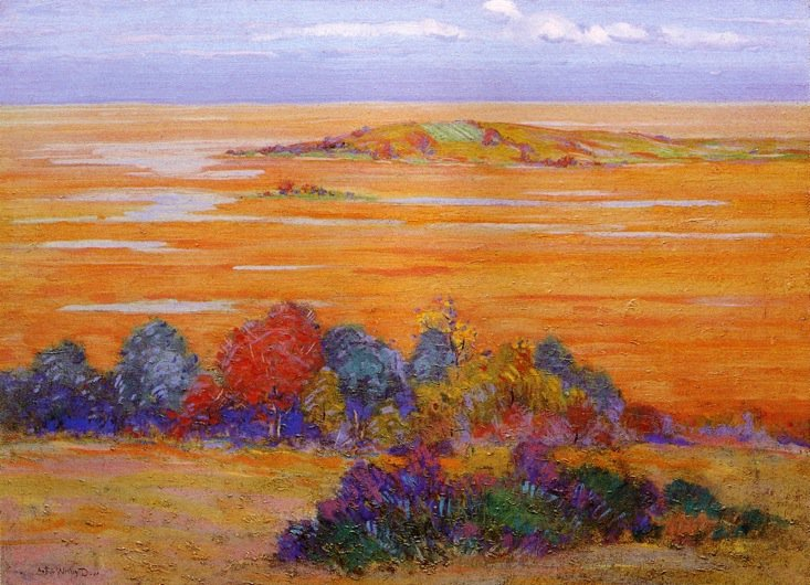 From Bayberry Hill 1910 | Arthur Wesley Dow | oil painting