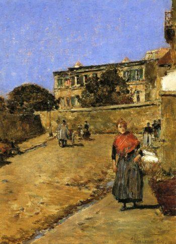 Street Scene, Montmartre Frederick Childe Hassam