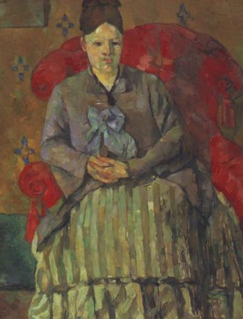 Madame Cezanne in a red armchair | Paul Cezanne | oil painting