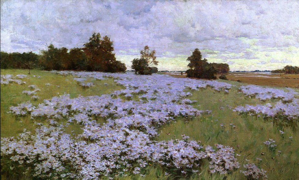 Frost Flowers Ipswich Massachusetts 1889 | Arthur Wesley Dow | oil painting