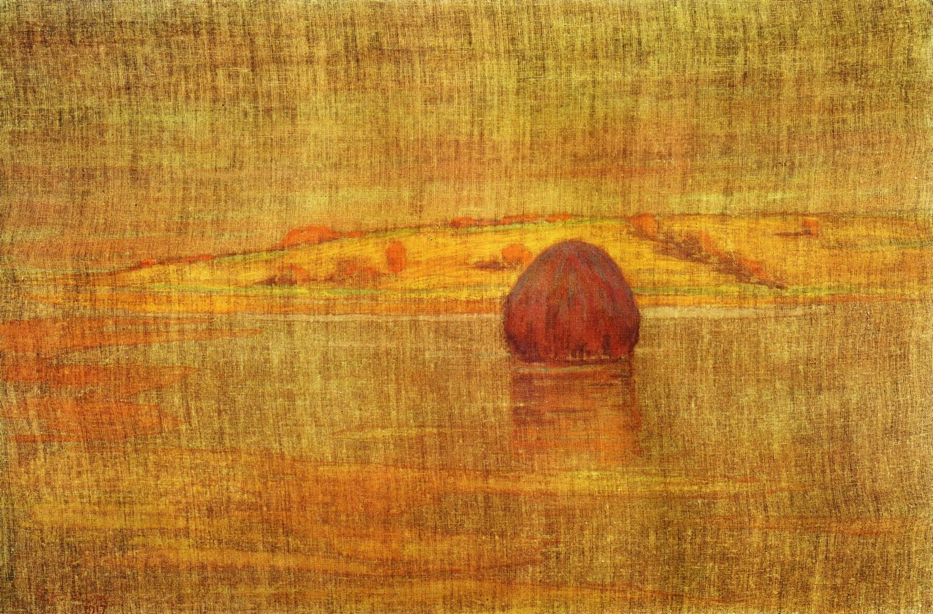 Haystack in an Ipswich Marsh 1917 | Arthur Wesley Dow | oil painting