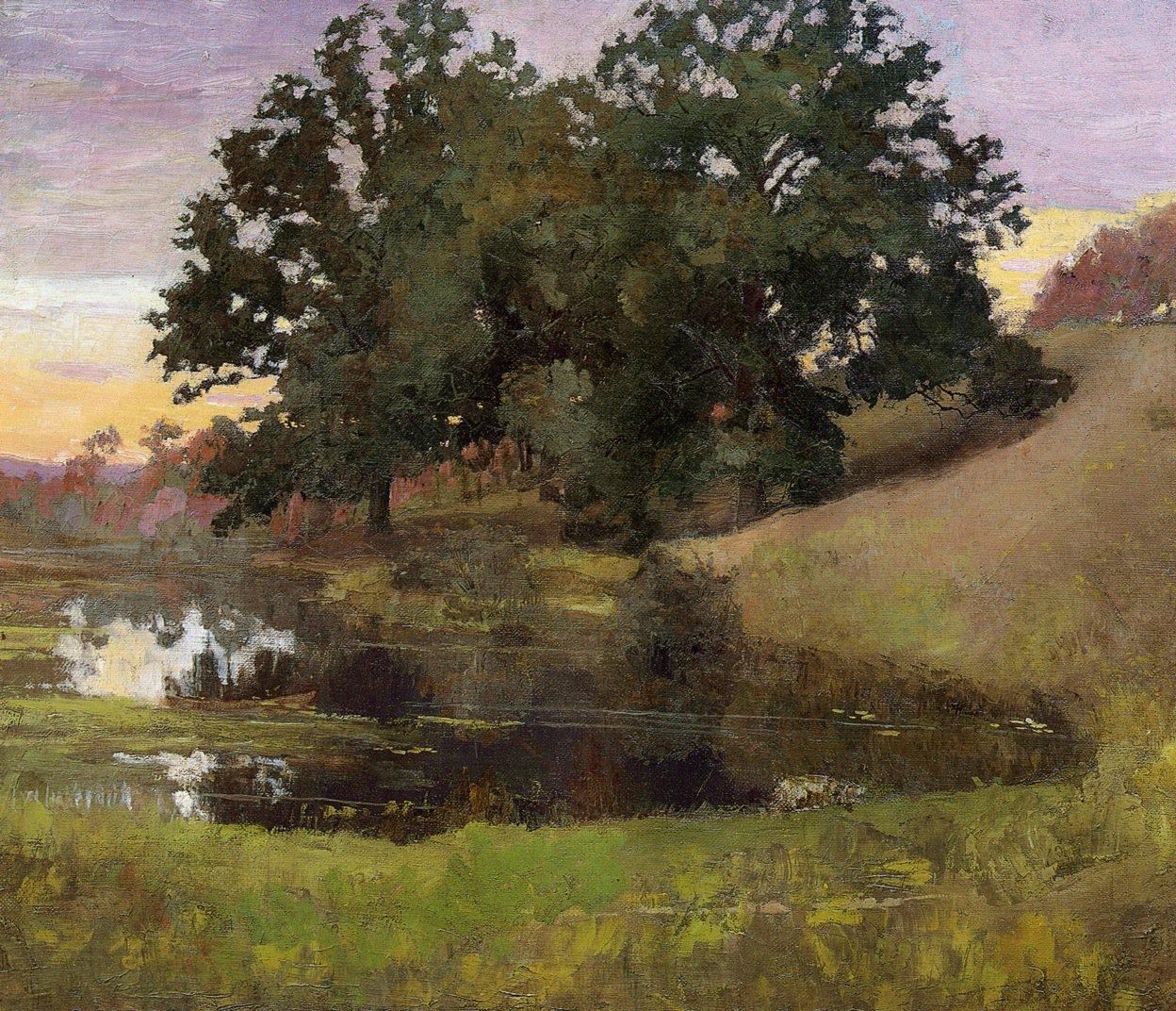 Hillside Pool 1900 | Arthur Wesley Dow | oil painting