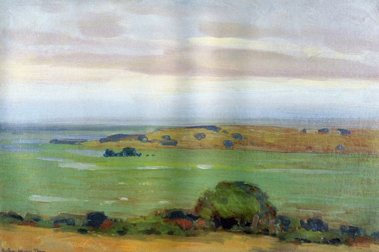 In the Shadow of the Thundercloud 1908 | Arthur Wesley Dow | oil painting
