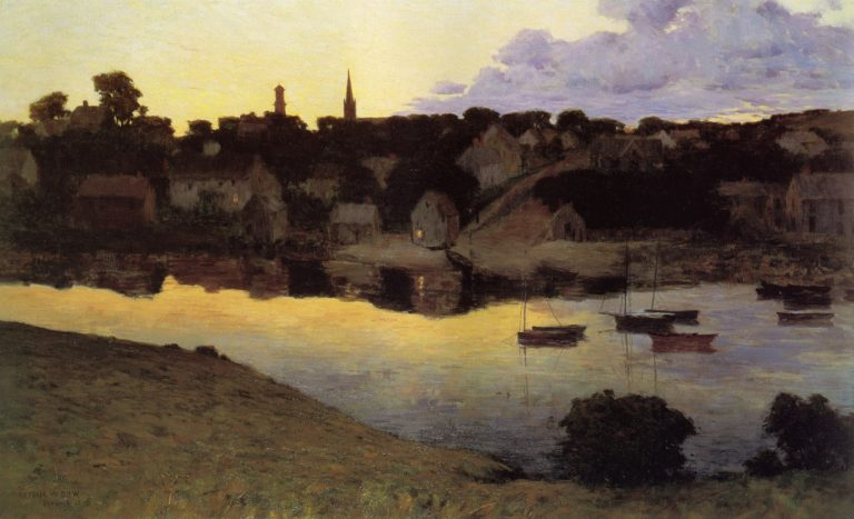 Ipswich at Dusk 1890 | Arthur Wesley Dow | oil painting