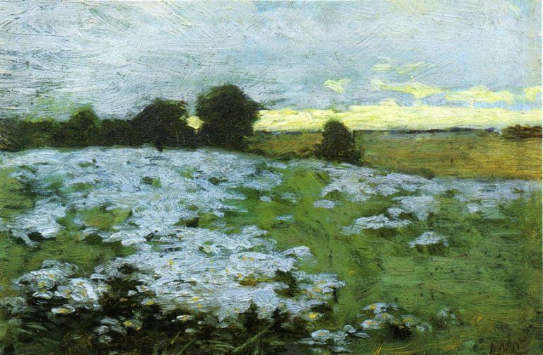 Ipswich Field  Flower Study 1910 | Arthur Wesley Dow | oil painting