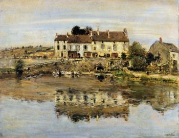 Small Houses on the Banks of the Oise | Jean Francois Raffaelli | oil painting