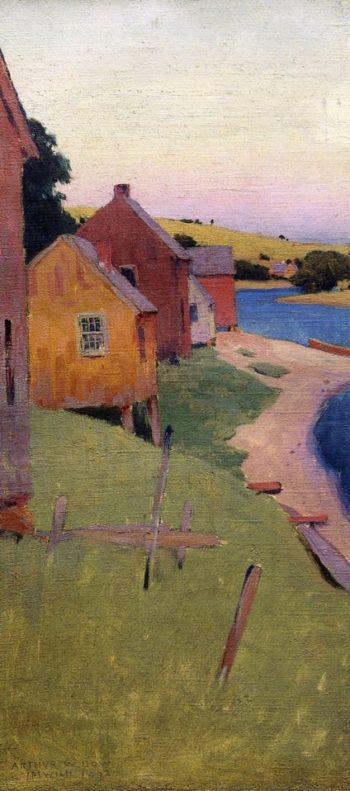 Ipswich Shanties 1892 | Arthur Wesley Dow | oil painting