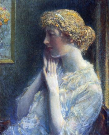 The Ash Blond | Frederick Childe Hassam | oil painting