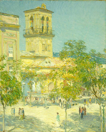 Street of the Great Captain Cordoba Childe Hassam