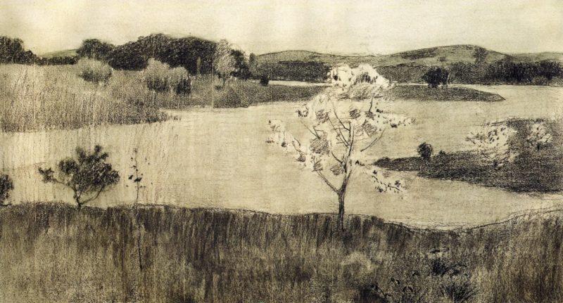 Japanese Tree in Bloom 1895   Arthur Wesley Dow   oil painting