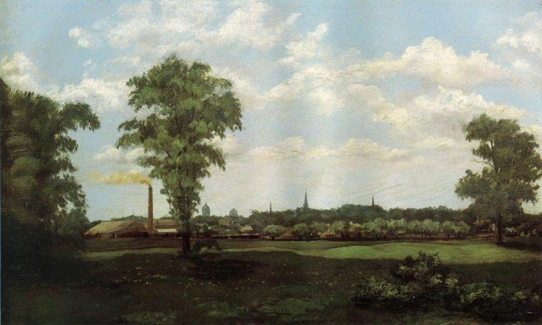 Landscape 1881 | Arthur Wesley Dow | oil painting