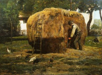 The Barnyard | Frederick Childe Hassam | oil painting