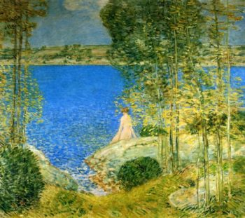 The Bather | Frederick Childe Hassam | oil painting