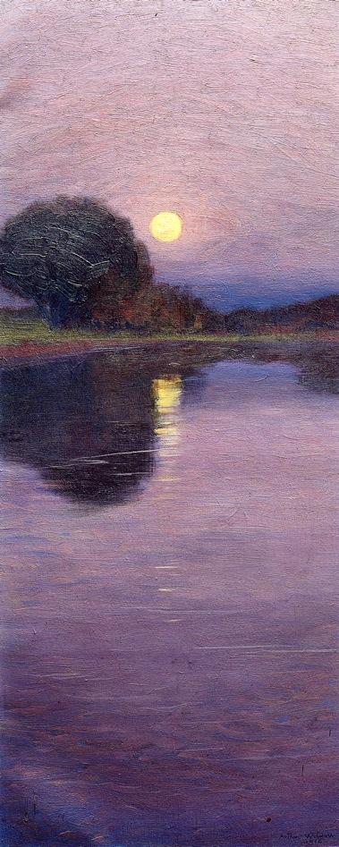 Moonrise 1916 | Arthur Wesley Dow | oil painting