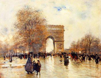 The Arc de Triomphe Autumn Effect | Jean Francois Raffaelli | oil painting