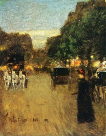 The Boid de Boulogne | Frederick Childe Hassam | oil painting