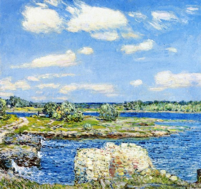 Mill Site and Old Todal Dam, Cos Cob Frederick Childe Hassam