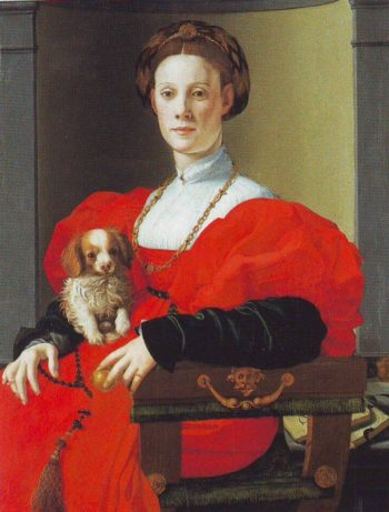 Portrait Of A Lady In Red | Agnolo Bronzino | oil painting