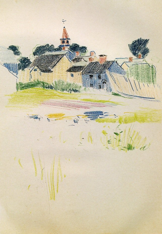 Pond 1883 | Arthur Wesley Dow | oil painting