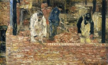 The Bricklayers | Frederick Childe Hassam | oil painting