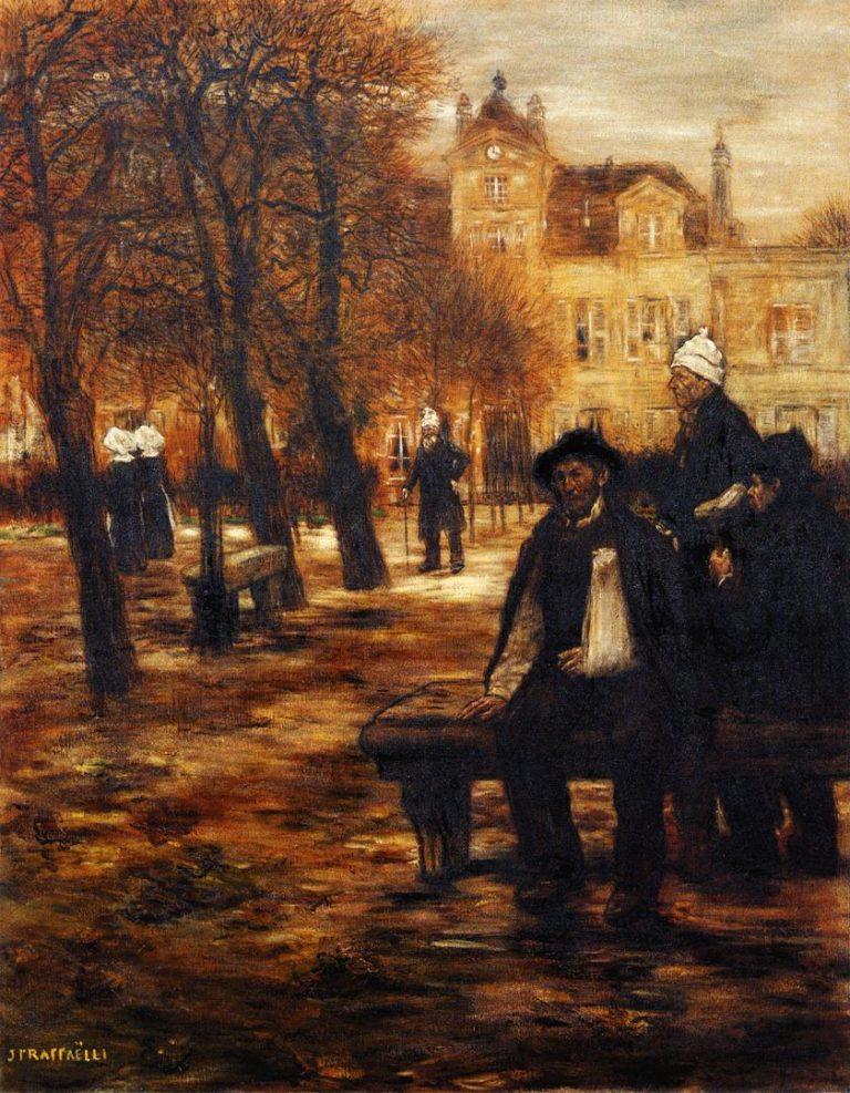The Elderly Convalescents | Jean Francois Raffaelli | oil painting