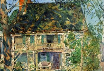 The Brush House | Frederick Childe Hassam | oil painting