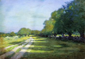 Sun Dappled Path 1895 | Arthur Wesley Dow | oil painting