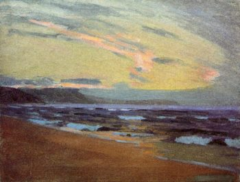 Sunset at Gay Head Marthas Vinyard 1913 | Arthur Wesley Dow | oil painting