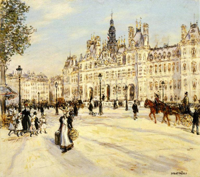 The Hotel de Ville de Paris | Jean Francois Raffaelli | oil painting
