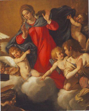 The Vision Of San Bernardo | Anastasio Fontebuoni | oil painting