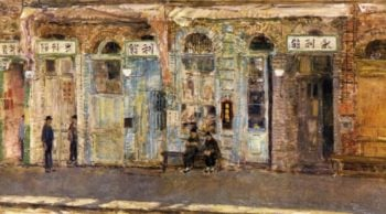 The Chinese Merchants | Frederick Childe Hassam | oil painting