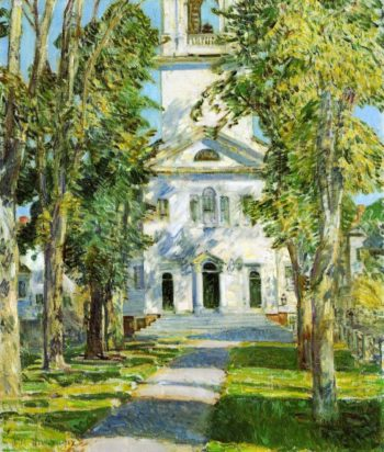 The Church at Gloucester | Frederick Childe Hassam | oil painting