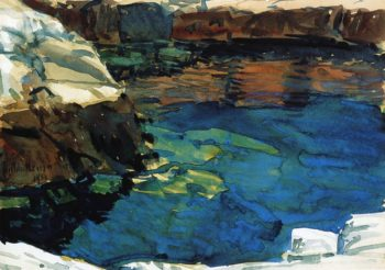 The Cove | Frederick Childe Hassam | oil painting
