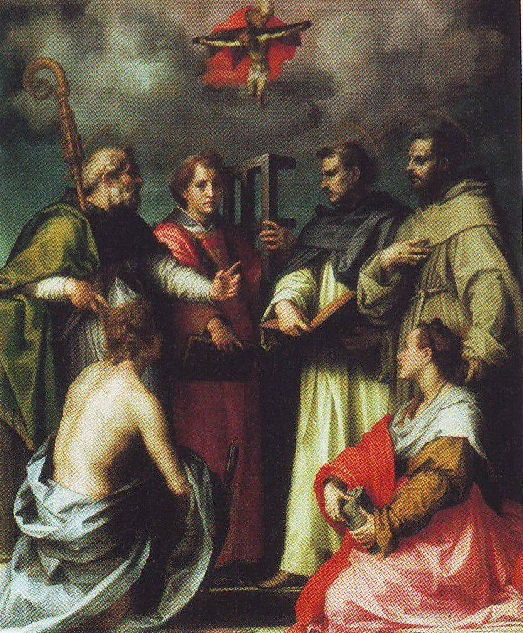 Dispute On The Trinity | Andrea Del Sarto | oil painting