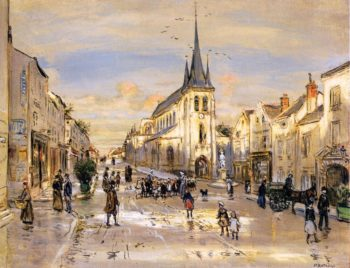 The Place Saint Jean in Nemours | Jean Francois Raffaelli | oil painting
