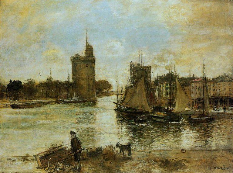 The Port of La Rochelle in Autumn   Jean Francois Raffaelli   oil painting