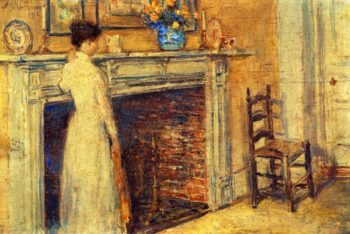 The Fireplace | Frederick Childe Hassam | oil painting