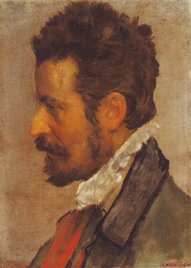Head Of A Man In Profile | Annibale Carracci | oil painting