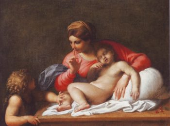 The Madonna And Sleeping Child With The Infant ST John The Baptist | Annibale Carracci | oil painting