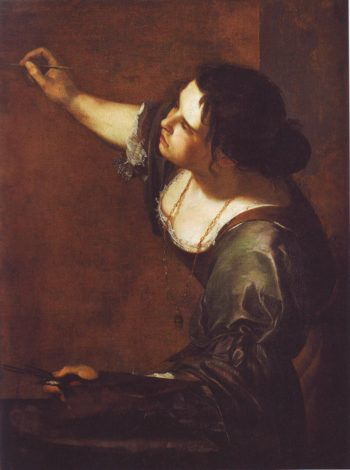 Self-Portrait As The Allegory Of Painting | Artemisia Gentileschi | oil painting